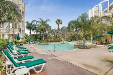 Revive yourself with a dip in 1 of 2 pools!! This one features a