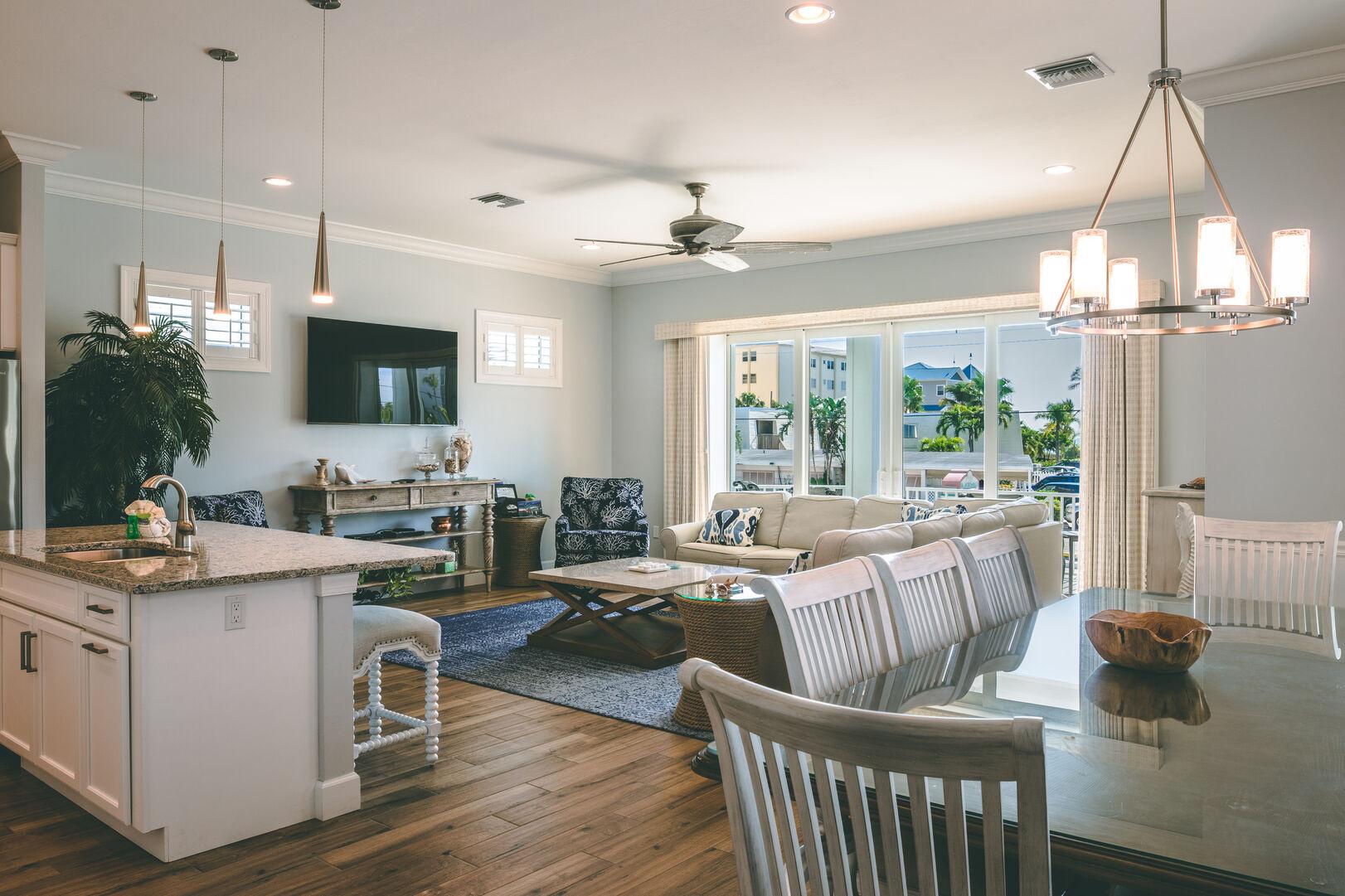 Living room area in unit