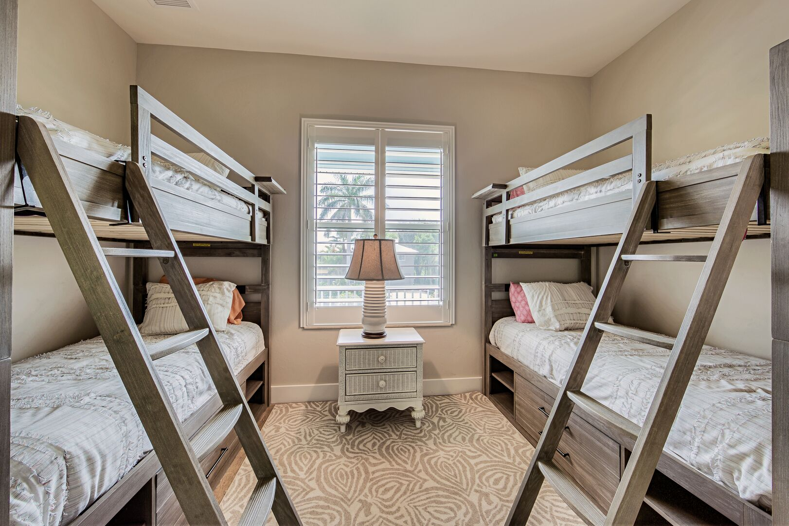 Two bunk beds located in rental