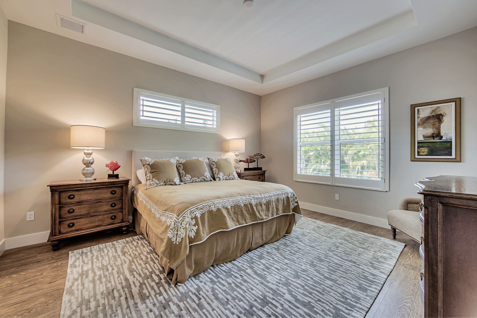 Bedroom with nearby window