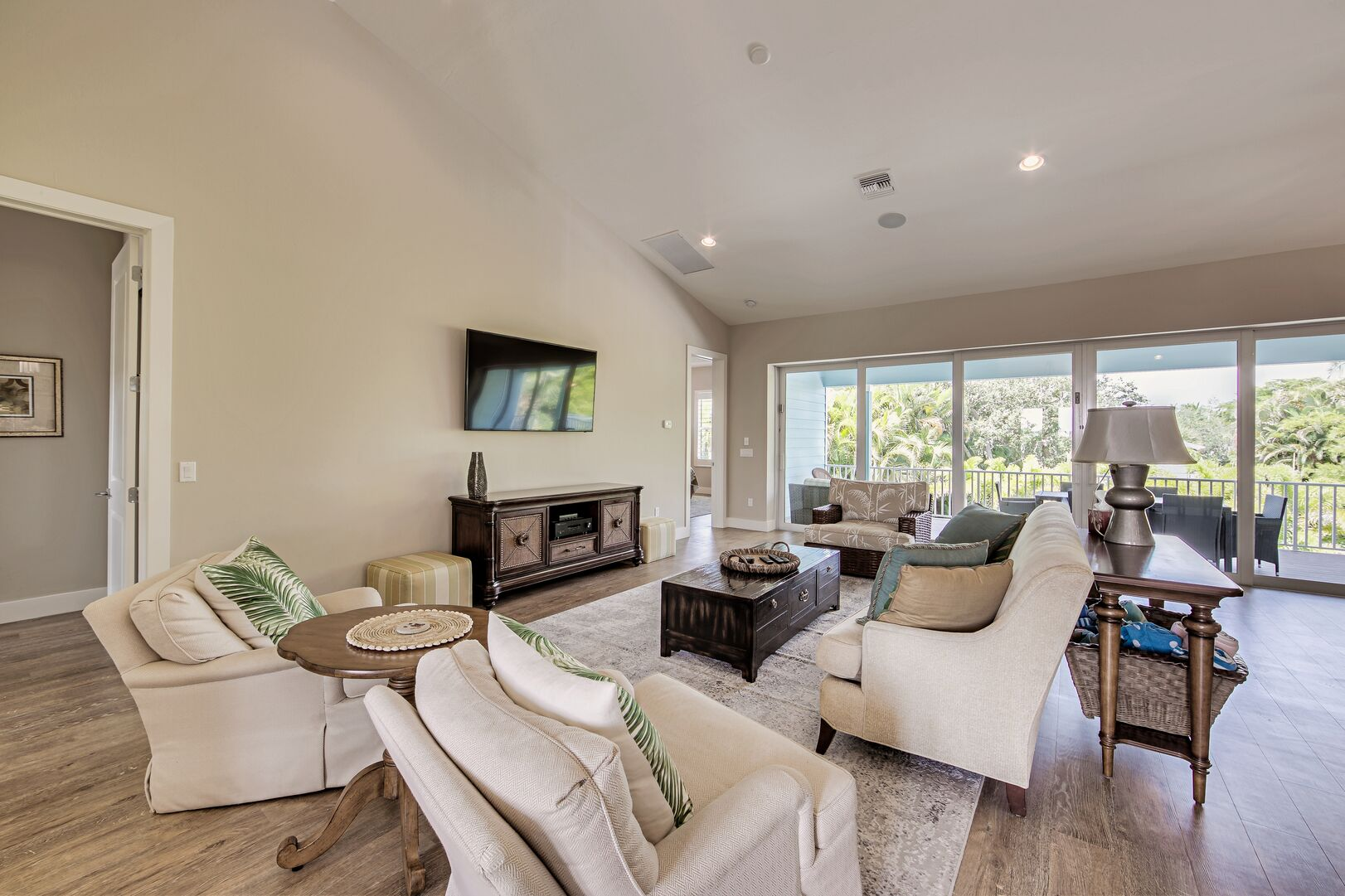Living room with a t v and seating