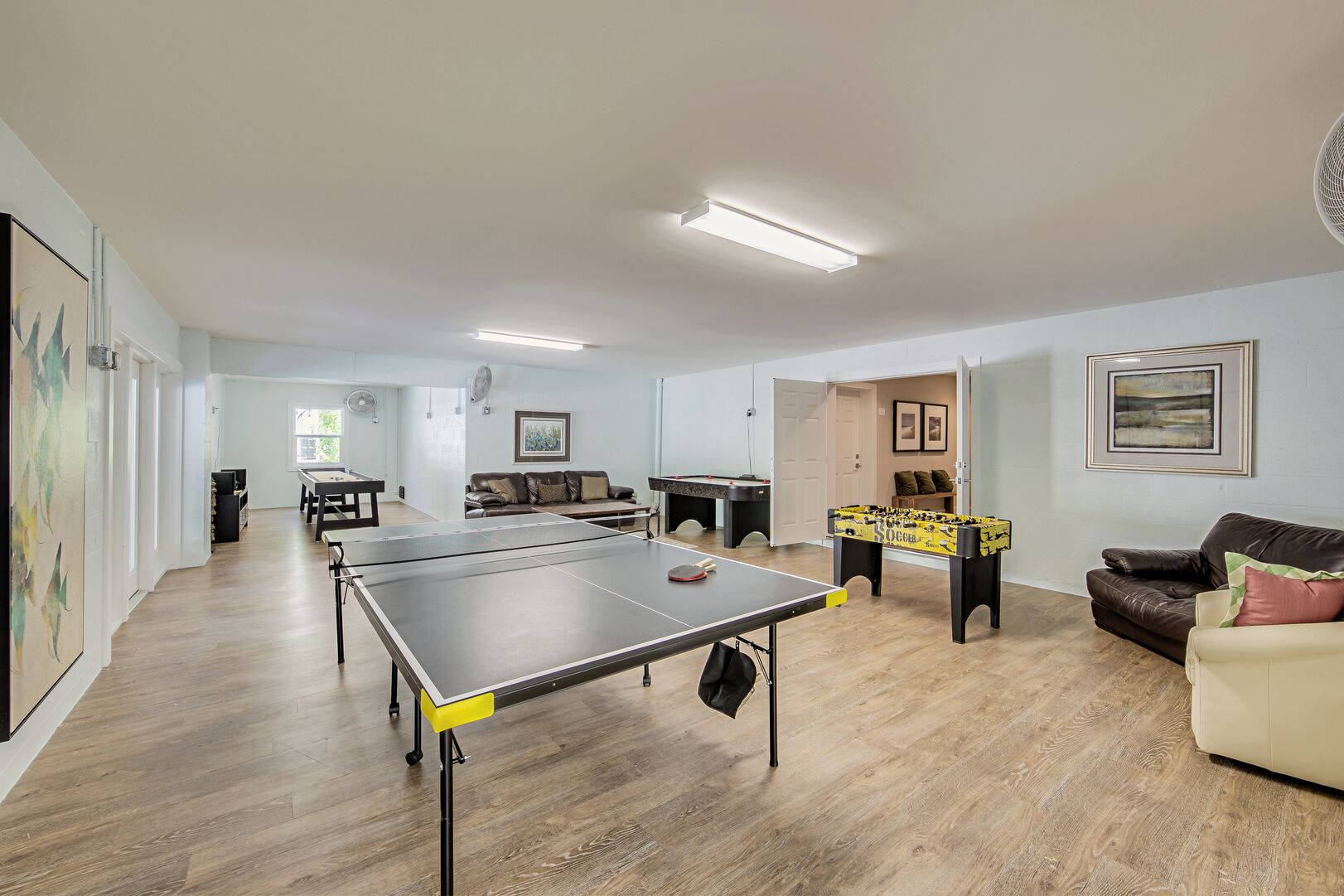 Ping pong table in unit