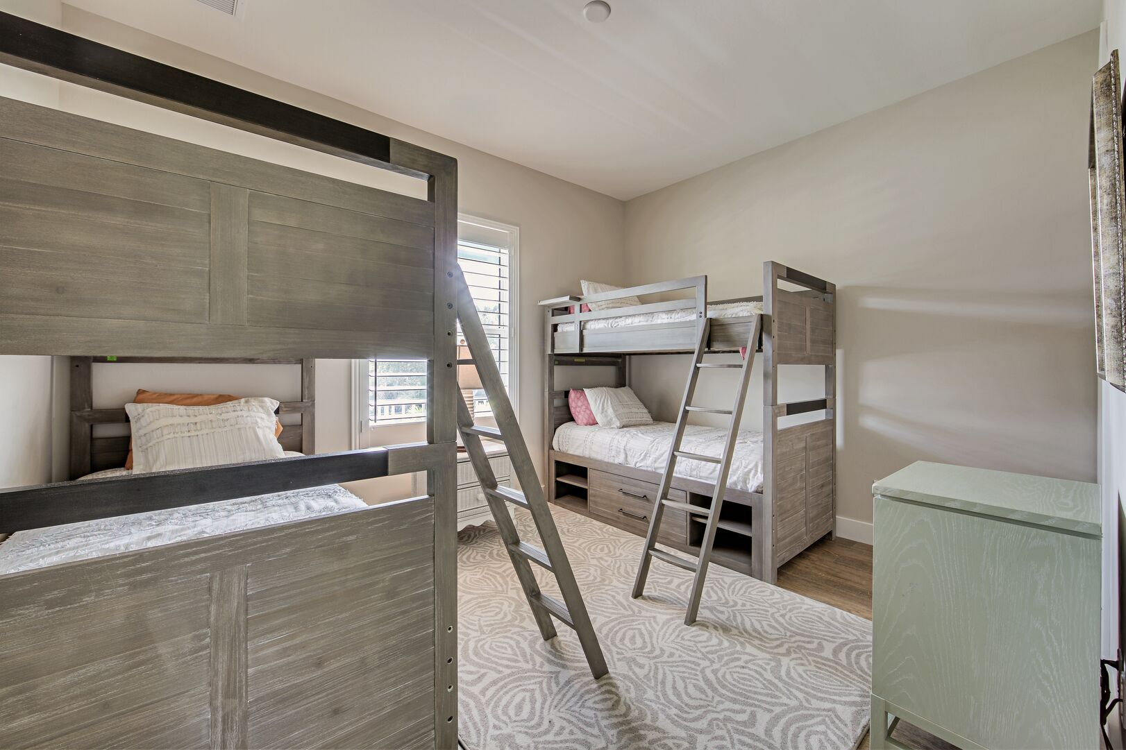Bedroom with two bunk beds