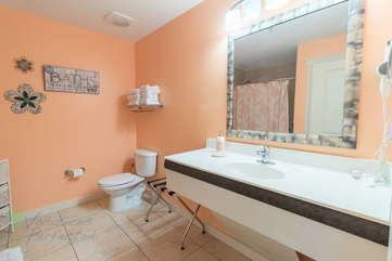 Full bathroom with plenty of counter top space
