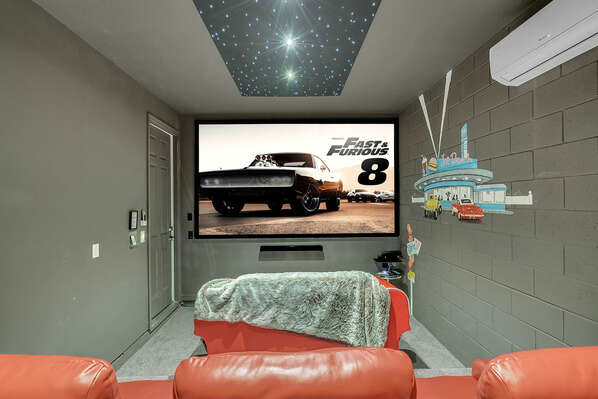 Movie Theater Room with large projection screen