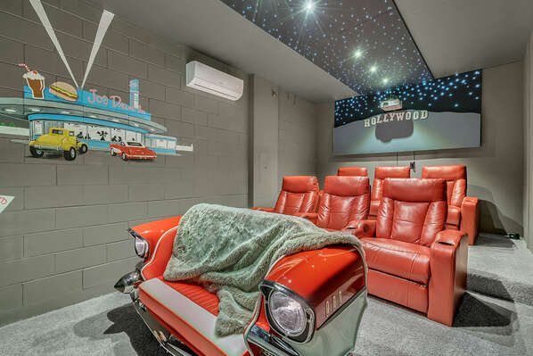 Air Conditioned Movie Theater Room