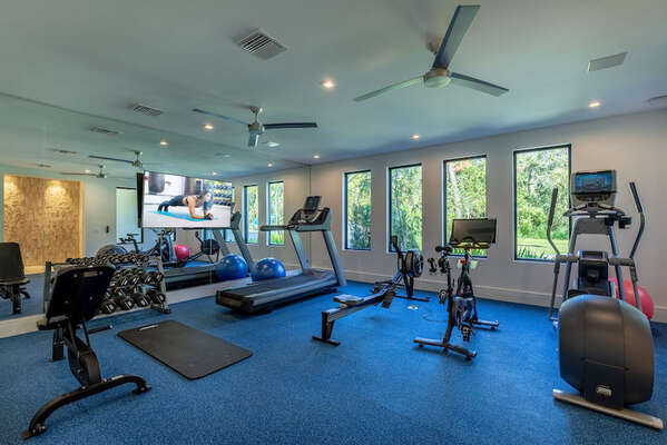 Stay on top of your fitness regimen, with the option to hire a personal trainer
