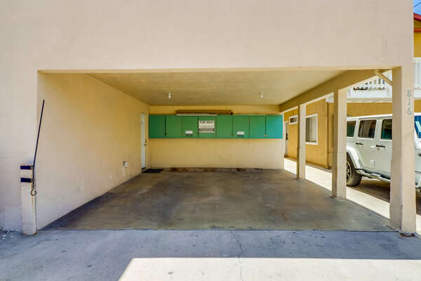 One Carport  7' wide x 89