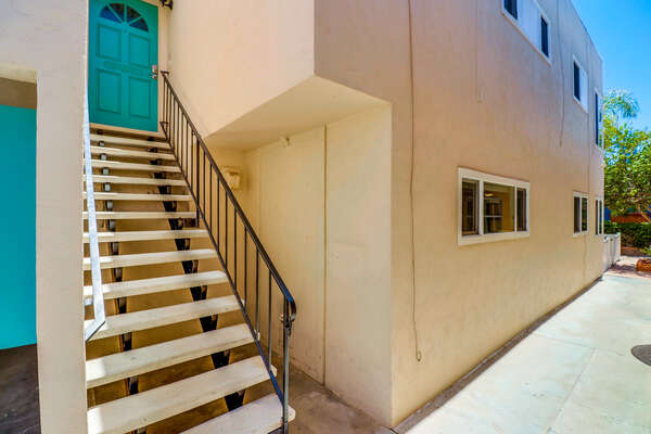 JAMAICA816 is an upper level home, there is one flight of stairs to enter home