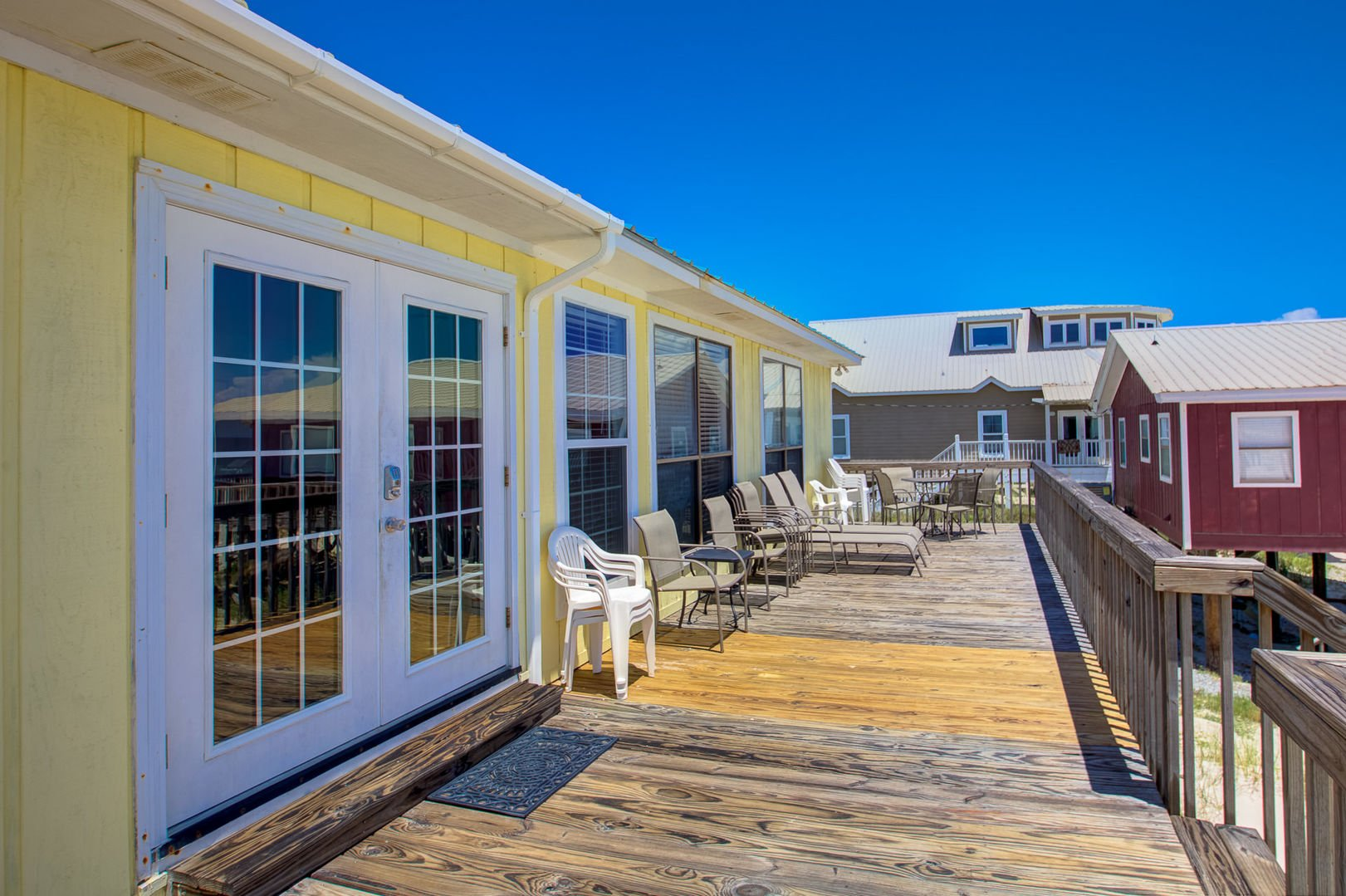 Relax on the Deck of this Pet Friendly Gulf Shores Rental.