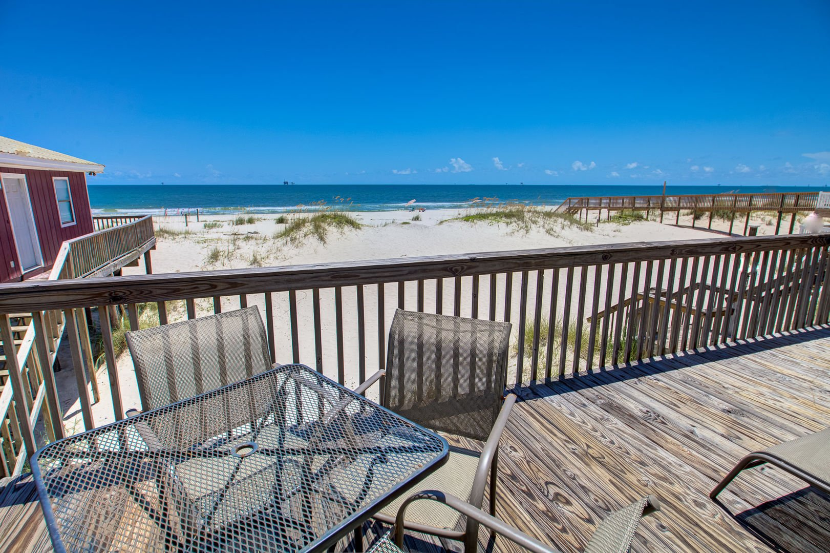 Views of Beach from Pet Friendly Gulf Shores Rental.