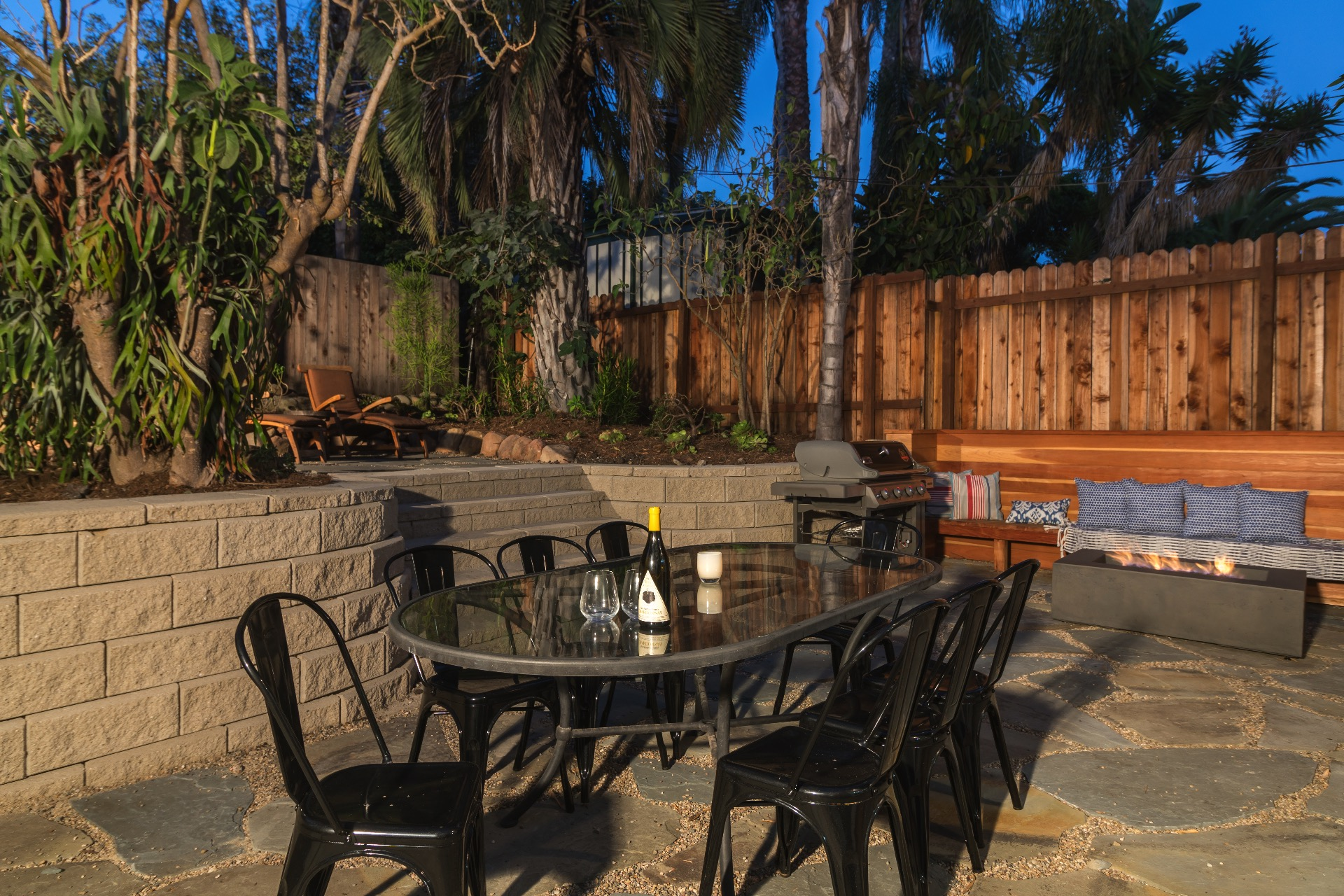 Back patio dining table