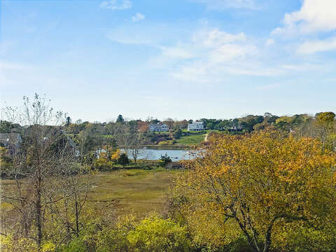 Views of Little Mill Pond from both decks at -325 Main Street Chatham Cape Cod - New England Vacation Rentals
