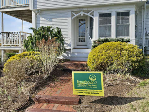 Entrance for The Mermaid House located  on the driveway side - 325 Main Street Chatham Cape Cod - New England Vacation Rentals