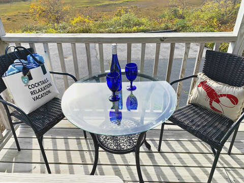 Relax on the lower deck at -325 Main Street Chatham Cape Cod - New England Vacation Rentals