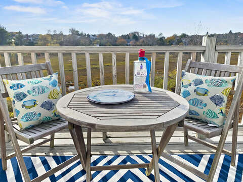 Take in the views on the upper deck-325 Main Street Chatham Cape Cod - New England Vacation Rentals