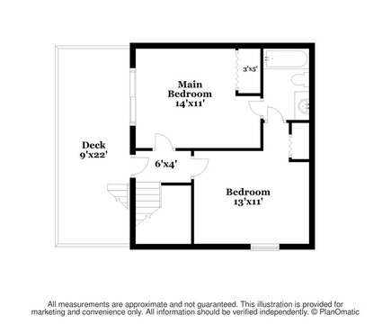 Second floor plan-325 Main Street Chatham Cape Cod - New England Vacation Rentals