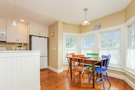 Dining nook with a view of Main ST- 325 Main Street Chatham Cape Cod - New England Vacation Rentals