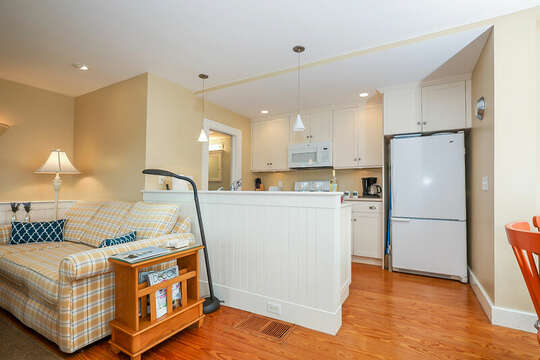 Open concept living room and kitchen-325 Main Street Chatham Cape Cod - New England Vacation Rentals