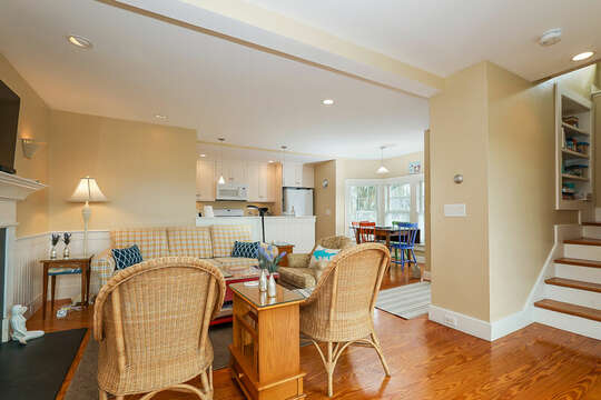 Enjoy the open floor plan in this Town House stairs to the second level-325 Main Street Chatham Cape Cod - New England Vacation Rentals