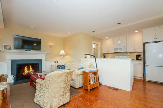 Livingroom with view of kitchen-325 Main Street Chatham Cape Cod - New England Vacation Rentals