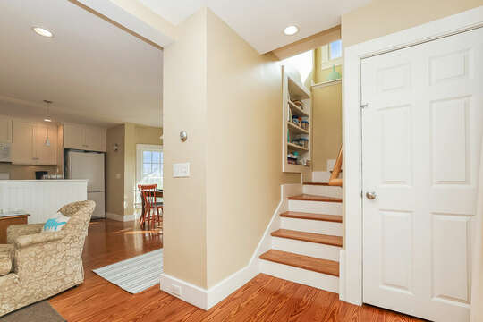 Foyer with stairs to second floor-325 Main Street Chatham Cape Cod - New England Vacation Rentals