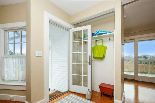Entry way with coat rack-325 Main Street Chatham Cape Cod - New England Vacation Rentals