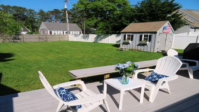 Fully fenced-in yard will allow for family time with Fido! - 25 Grey Neck Road West Harwich Cape Cod - New England Vacation Rentals
