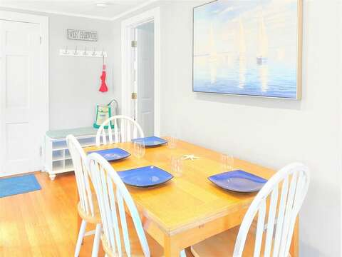 Open and airy spaces. Dining area and  to the left you will find the Master Bedroom - 25 Grey Neck Road West Harwich Cape Cod - New England Vacation Rentals