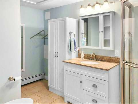 Totally new and updated shower (en suite to bedroom #1 bedroom) - 25 Grey Neck Road West Harwich Cape Cod - New England Vacation Rentals
