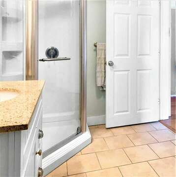 Totally new and updated shower (en suite to bedroom #1) - 25 Grey Neck Road West Harwich Cape Cod - New England Vacation Rentals