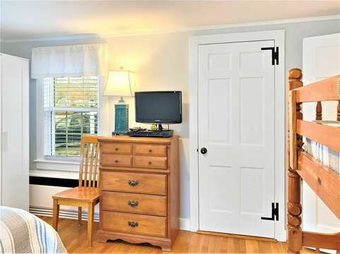 Bedroom 2 with flat screen TV-25 Grey Neck Road West Harwich Cape Cod - New England Vacation Rentals