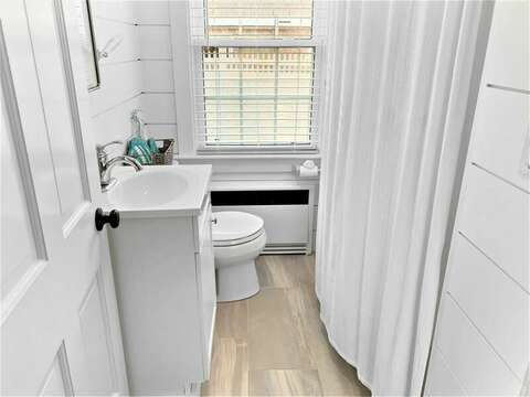 Updated 2nd Bathroom, located off of the hall between Bedrooms 2 and 3 - 25 Grey Neck Road West Harwich Cape Cod - New England Vacation Rentals