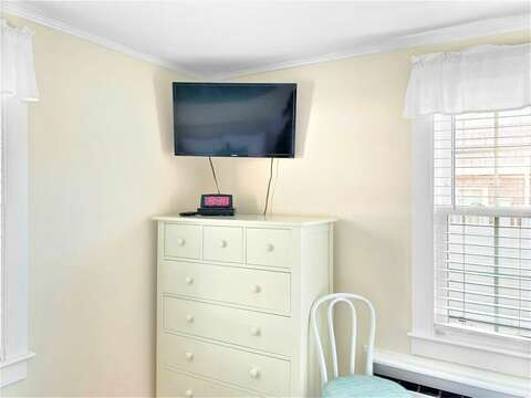 Bedroom 3 with a dresser and flat screen tv - 25 Grey Neck Road West Harwich Cape Cod - New England Vacation Rentals