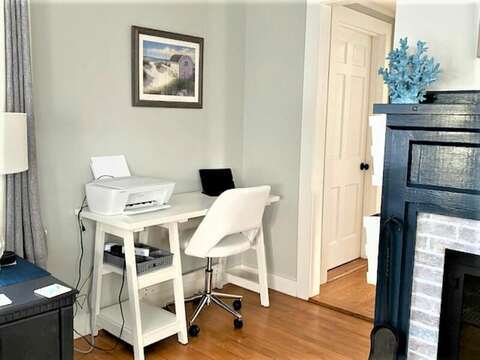 Remote WFH or Learning at the desk provided at - - 25 Grey Neck Road West Harwich Cape Cod - New England Vacation Rentals