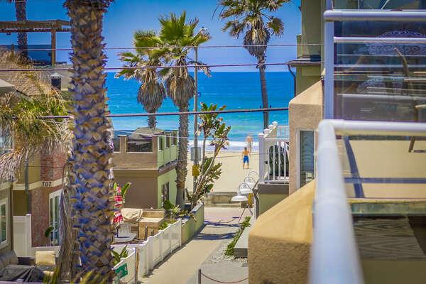 Beach views from 3rd floor patio