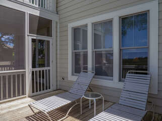 Open sun deck outside of screened porch