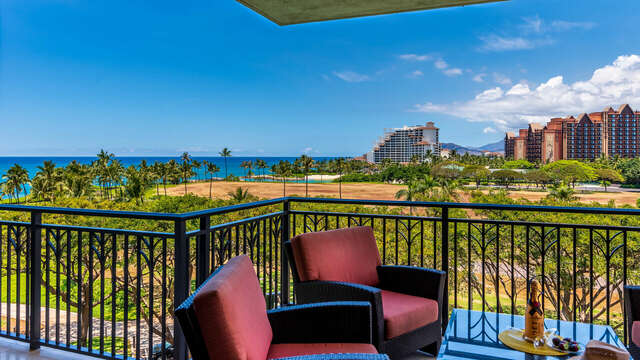 Balcony shot of this Ko Olina Resort Villa