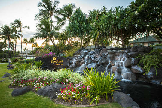 Entrance to the Ko Olina resort