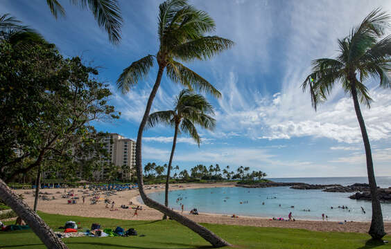 Beach view near the Ko Olina resort