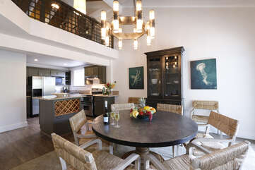 Lele Penthouse Dining Room and Kitchen