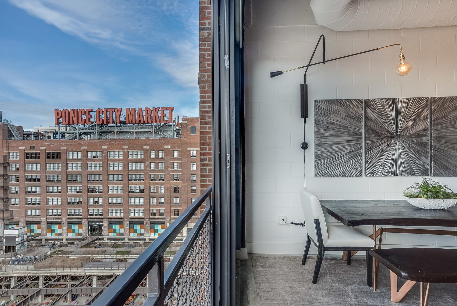 View of the Ponce City Market from our Luxury Vacation Rental in Atlanta, GA.