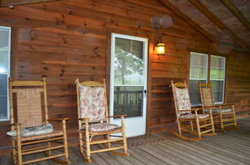 Plenty of rocking chairs to take in the views