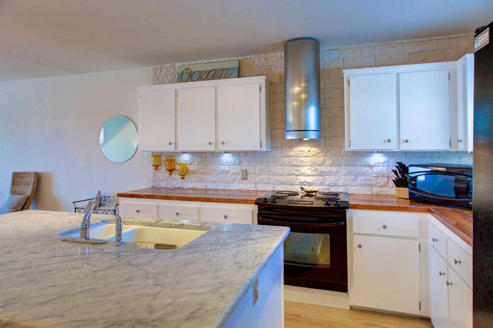 Luxury Kitchen Features Plenty of Counter and Cabinet Space.