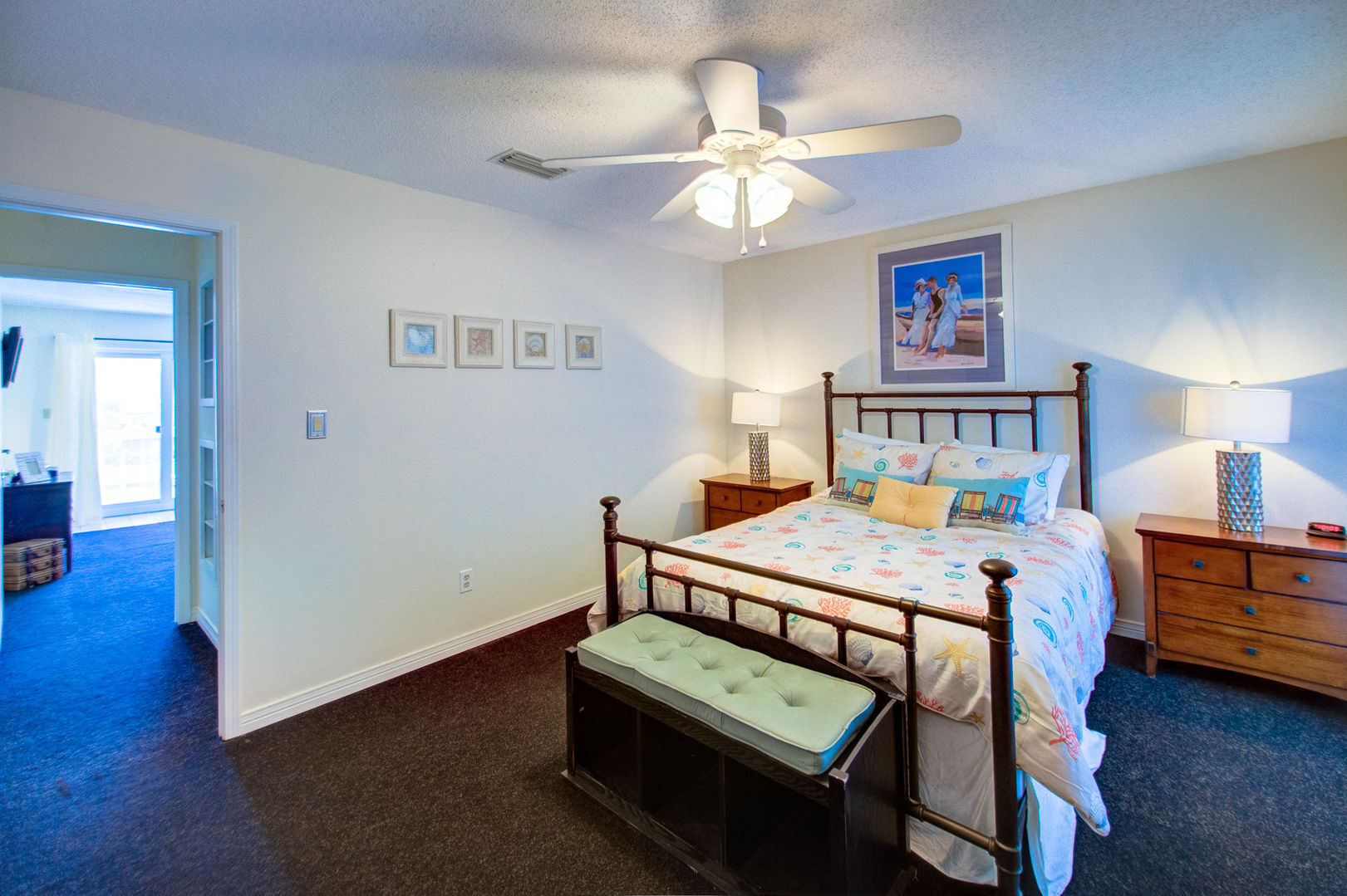 An Image of Spacious Bedroom in Vacation Rental in Pensacola Florida.