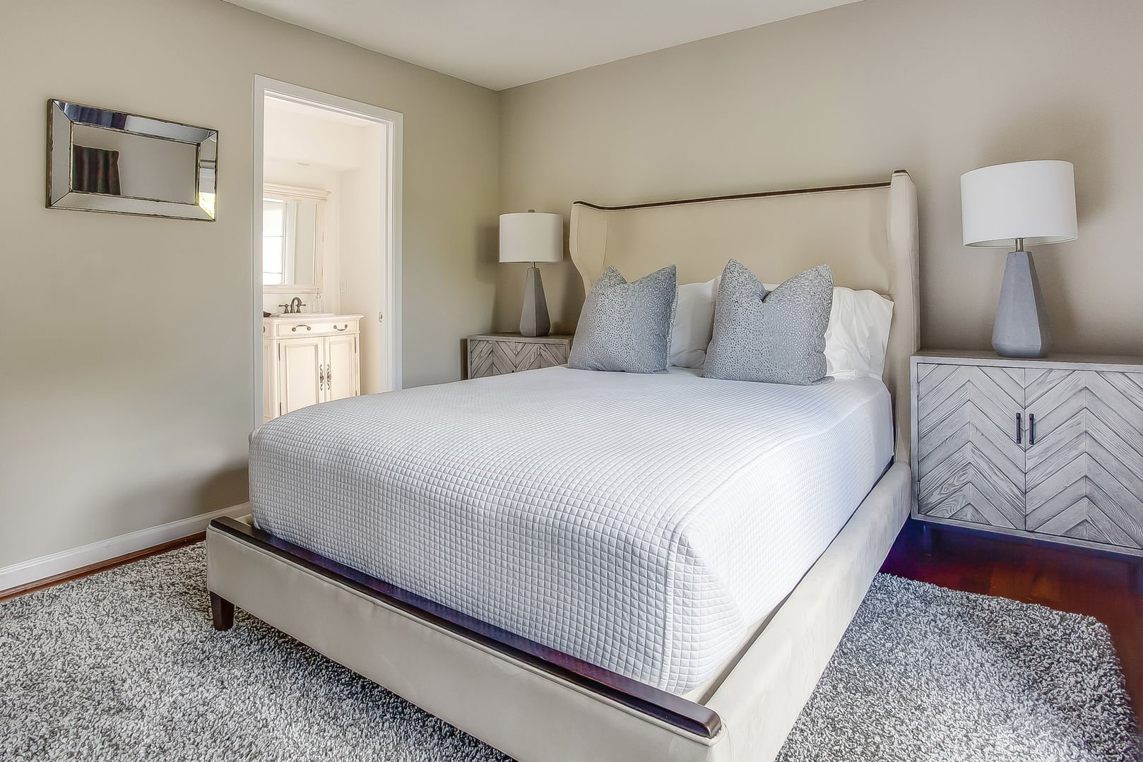 Guest bedroom in this Poncey Highlands Rental