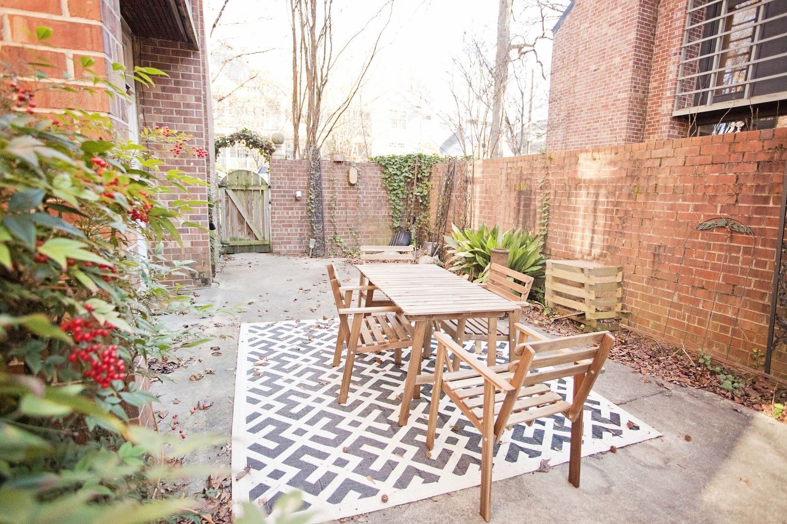 Patio outside this Poncey Highlands Rental