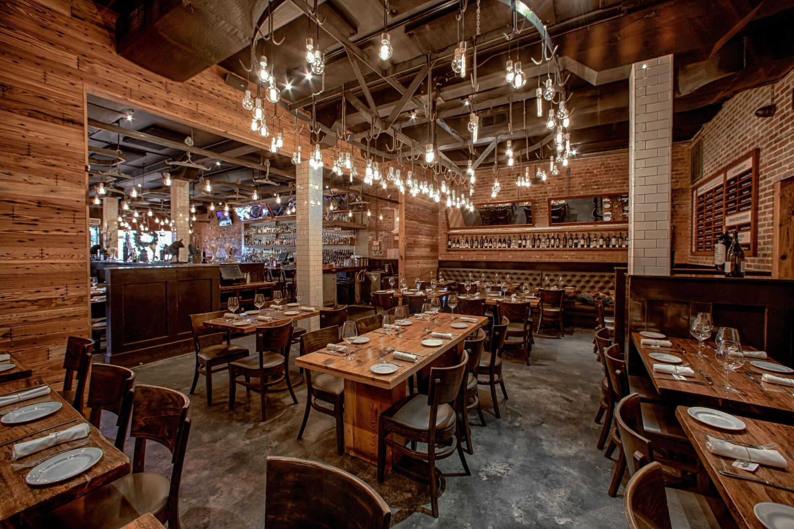Interior Seating at Little Ally Steakhouse