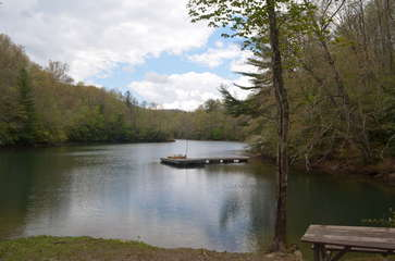 Private community lake front recreation area
