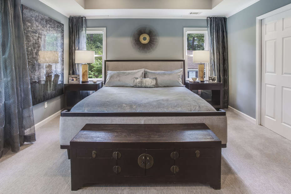 Master Bedroom with Night Tables and Foot Chest
